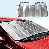 ZHOUBA - Parasol plegable para parabrisas de coche con protección contra rayos UV, para parabrisas delantero y trasero