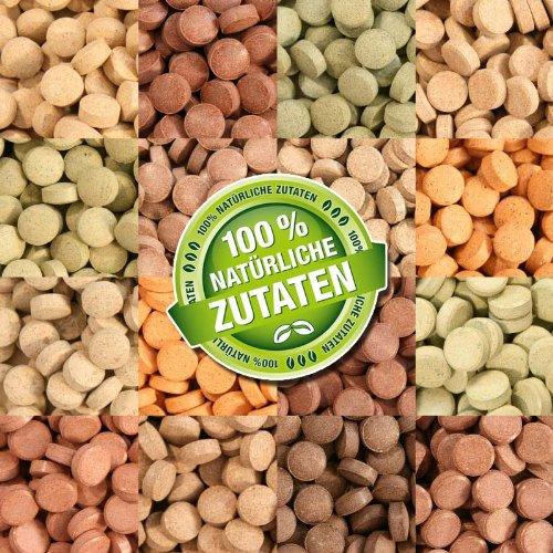 1000 ml (700g) Premium TOP Futtertabletten OPTI-MIX 17 Tabletten, Tablettenfutter Mix für Aquarium Zierfische