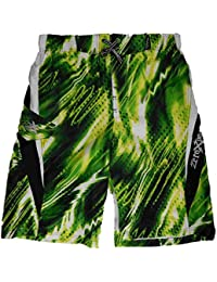 Boys Electric Green Graphic Swim Trunks Board Shorts 18/20