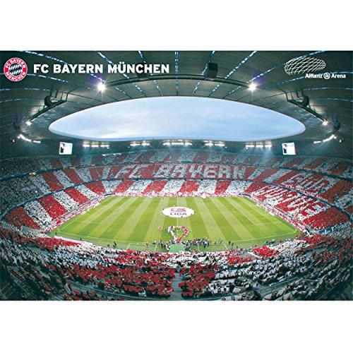 Poster Allianz Arena Innenraum 360° FC Bayern München FCB + gratis Aufkleber, Munich