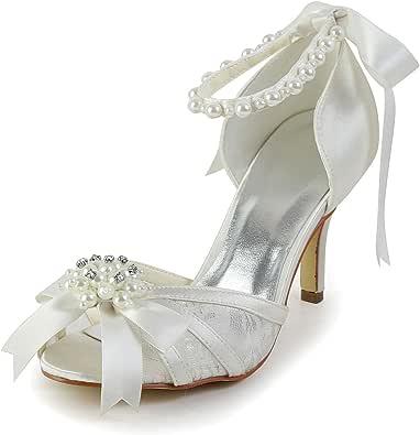 JIA JIA Wedding 083907 Scarpe Sposa Scarpe col Tacco Donna Beige, EU 35