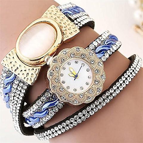 WW Fiore Bracciale Vintage diamante dial ladies Bracelet Watch , 3- blue