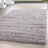 *Teppich* für Wohnzimmer günstig hochflor Shaggy Teppich mit verschiedenen Farben und Größen* Teppiche werden mit 100% PP Headset hergestellt. Gesamthöhe des Teppichs circa 30 mm. , Größe:160x230 cm, Farbe:Hellgrau