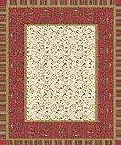 Bassetti Oplontis V8N Tischdecke, 100% Baumwolle, Rot, 140 x 170 cm in