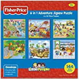 Fisher-Price 6-in-1 Adventure Jigsaw Puzzle (Little People), Multi-Pack by Longshore (English Manual)