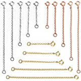 Aweisile 15 Pezzi allunga collane Estensore per Catene Acciaio Inox Estensione del Braccialetto estensore del Collana Collana