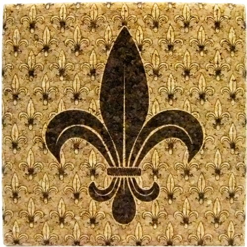 XL Coasters Fleur-de-Lis (6 Inch, Set of 2) by XL Coasters - Set Fleur De Coaster Lis