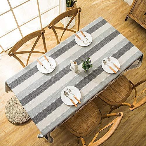 Baif tovaglia di poliestere ristorante tovaglia da tavola rotonda per ristorante, impermeabile o esterno (colore: e, dimensione: 120x160cm)