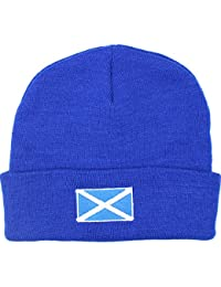 Men's Scotland Blue Thermal Sports Beanie Hat