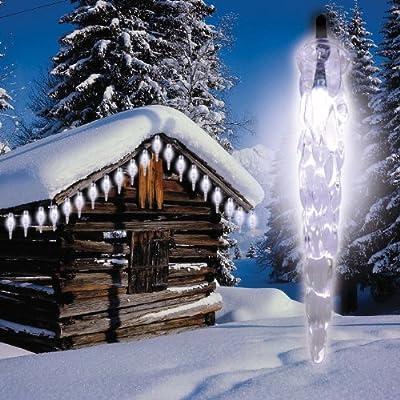 Solar-Eiszapfenlichterkette für außen mit 20 hellen LED von Heitronic - Lampenhans.de