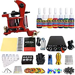 Blackseal Tattoo Machine Kit 1 Pro Gun New Design Power and Inks
