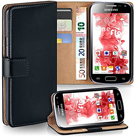 Bolso OneFlow para funda Samsung Galaxy Ace 2 Cubierta con tarjetero   Estuche Flip Case Funda móvil plegable   Bolso móvil funda protectora accesorios móvil protección paragolpes en
