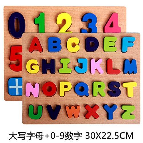 Numeri arabi, lettere, giocattoli puzzle prima infanzia educativi di formazione,D
