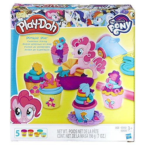 Play-Doh Hasbro - B9324 My Little Pony - Pinkie Pies Cupcake Party - 2 mittleren + 3 kleine Dosen Muffin-top-dosen