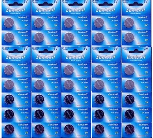 50 CR2032 DL2032 5004LC CR 2032 Akkuzellen 3V 2 Cr2032 Batterien