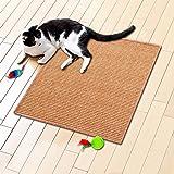 Floori® Sisal Kratzteppich | Naturfaser: nachhaltig und umweltfreundlich | Apricot, 50x50cm