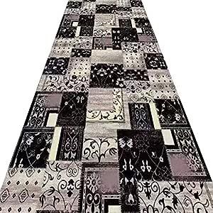 Color : A , Size : 0.8x1.2m Pi/ù Dimensioni Runners Lunga Tappeti Spessore 6mm Runner Tappeti Tappeti Runner Tappeto Passatoia Corridoio Carpet Stile Europeo Nero Stampa Design Poliestere Cutable