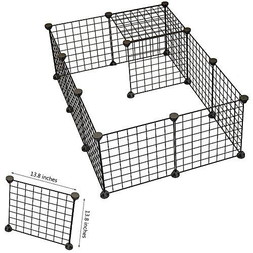 hund-tier-laufgitter-tragbar-grosser-metall-draht-yard-zaun-12-platten-schwarz-fur-kaninchen-meersch