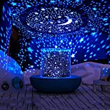 Stars Starry Sky Led Night Light Projector Remote Moon Lamp Battery Usb Kids Girls Gifts Children Bedroom Lamp 3d Portable Lamp