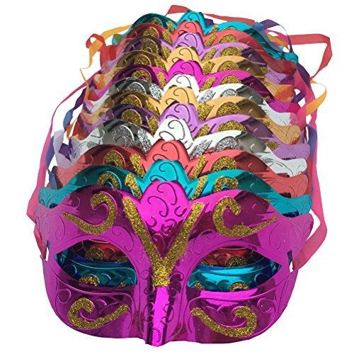 ld shining plated party mask wedding props masquerade mardi gras mask (Mardi Gras Hut)
