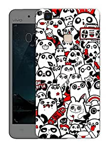 "Humor Gang Be A Panda Printed Designer Mobile Back Cover For ""Vivo V3"" (3D, Matte Finish, Premium Quality, Protective Snap On Slim Hard Phone Case, Multi Color)"