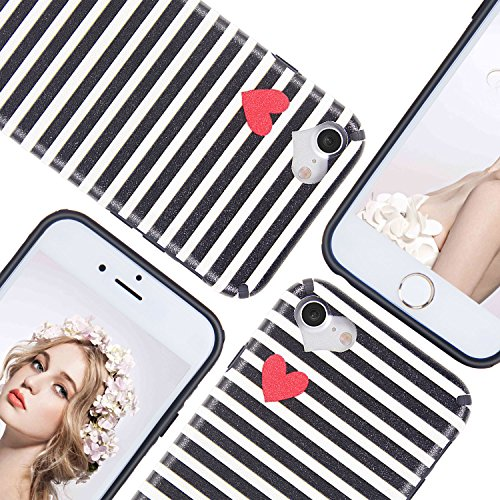 iPhone 6 6S Hülle, Imikoko® iPhone 6 6S Rundumschutz Handy Hülle Schutzhülle Weich Silikon TPU Case Super Sweet Cute für Girl Frauen Mädchen Schwarz