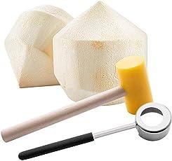 304 Edelstahl Kokosnussöffner Puncher Kokosnuss Werkzeug Kokosnuss Hammer Kit Set