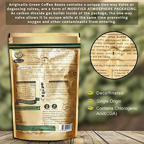 Ariginallo Green Coffee Beans For Weight Loss 350 G Yelejao Com