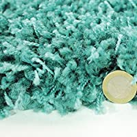 FB FunkyBuys® Modern Soft Touch Shaggy Thick Luxurious Duck Egg Blue 5cm Dense Pile Bedroom Rug -Available in 5 Sizes by FB FunkyBuys®