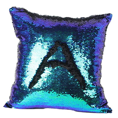 Cuscino,WINWINTOM Double Color Glitter Sequins Pillow Case Home Decor Cushion Covers G