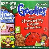Organix Organic Goodies Strawberry Soft Oaty Bars 30 g (Pack of 6, 36 bars in total)