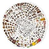 Dekoration Aufkleber Pack für Erwachsene/Kinder 12Themen Washi Papier Sticker sortiert Decor Aufkleber selbstklebend Aufkleber Graffiti Patches für Buch, Tagebuch, Laptop, Auto, Motorrad, Fahrrad, Gepäck, Bumper
