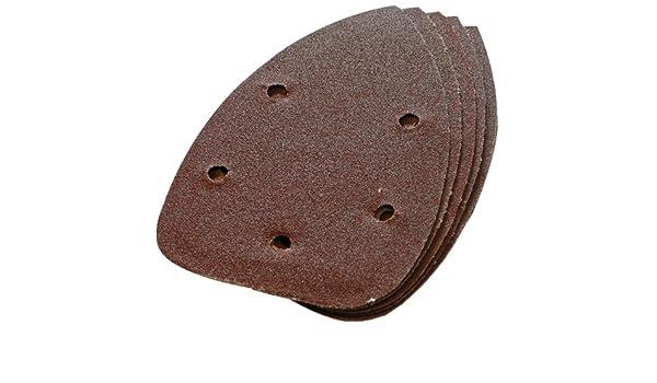 Silverline 598542 10 feuilles abrasives auto-agrippantes 140 mm Grain 120