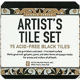 Studio Series Artist's Tiles: Black (75 pack)