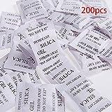 Lionina gel di silice Disseccante, confezione da 200x 1g di gel di silice pacco umidità Umidità assorbitore deumidificatori odori di muffa, multiuso agente Essiccante borse