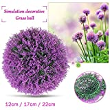 künstliche Pflanze Ball dekorative Buchsbaum Simulation Gras Ball Kunststoff Grün Globus Lavendel lila für Hochzeit Einkaufszentrum Weihnachts Wohnkultur (2pcs, 22cm)