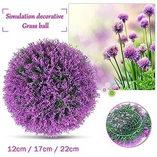 Yunhigh Bola Planta Planta artificial Topiary boj bola decorativa de imitación de lavanda púrpura bola de la hierba verde del globo para la boda de compras Ma