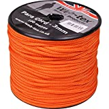 Web Tex 3 mm Day Glow Neon Orange Para Kordel 100 m Rolle Ideal für Camping, Survival Kit, Pascha-, Zelt, Zelt Bivi, Airsoft, Bushcraft etc.