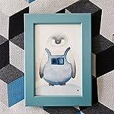 Petit Pino - Der kleine Pinguin - Aquarell - Seemann Holgi - Gemälde - Bild + Bilderrahmen