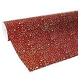 Clairefontaine 211738C Geschenkpapier Premium (50x0,70m, 80g/qm) 1 Rolle Weihnachten Rot/Gold