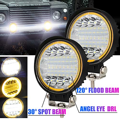 72W Foco Led Tractor con Angel Eyes