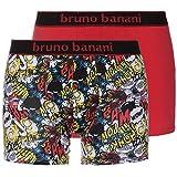 bruno banani Herren Short 2er Pack Comic, 2er Pack, Rot (Rot Print//Rot 2148), Large
