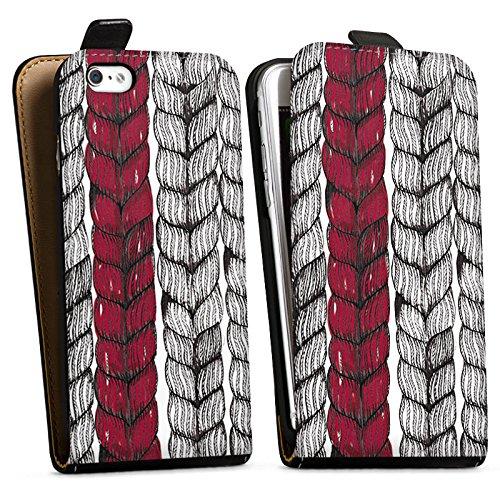 Apple iPhone X Silikon Hülle Case Schutzhülle Zopf Grafik marenkruth Downflip Tasche schwarz