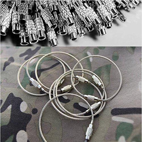 Reixus(TM) 5 pc / lotto 150 millimetri EDC della fune metallica della catena chiave anello in acciai