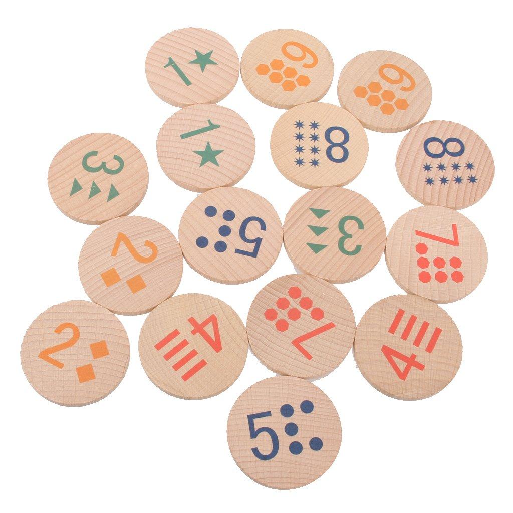 Bambini Bambini Giochi Di Memoria Mattonelle Di Legno Numeri Corrispondono Educativo Giocattoli