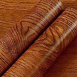 mural Selbstklebende Hintergrund-Wand, Profil-Palisander-Korn geüberholte Tischplattenholz-Tür-amerikanische alte Möbel-Aufkleber-Tür-Garderoten-Tapete, dekorative Wasserdichte Aufkleber,Rosenholz