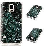 Schutzhülle für Samsung Galaxy S5 I9600, Yaking® Hülle aus Weich TPU Schale Marmor Muster