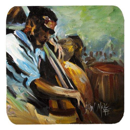 Caroline 's Treasures jmk1278fc Jazz Bass Schaumstoff Untersetzer (Set von 4), 8,9cm H x 8,9cm W, Multicolor