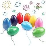Ventvinal 9 färgkritor för småbarn, färgpennor med lätt grepp, dekorativ påskäggsleksak för baby, spädbarn, flickor, pojkar