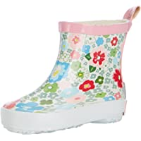 Playshoes Pluie Motif Floral, Bottes en Caoutchouc Naturel Fille